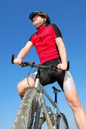 mountain biker  photo