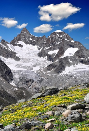 Beautiful mountain Ober Gabelhorn - Swiss alps Stock Photo