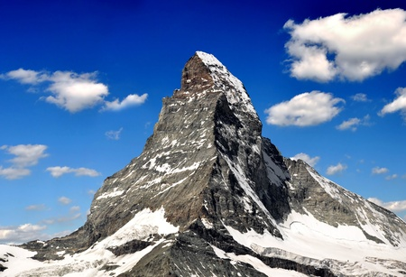 Matterhorn - Swiss alps Stock Photo