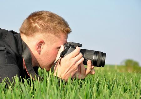 fotograaf met SLR-camera