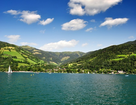 zell am see: Zell am see in Austria Stock Photo