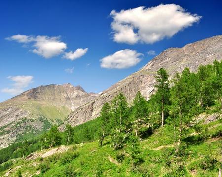 Valley Saastal in the canton Wallis - Swiss Alps