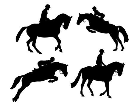 free riding: riding horse
