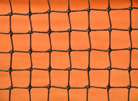 Close up details of a tennis net  Stock Photo - 10315354