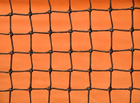 tennis net: Close up details of a tennis net