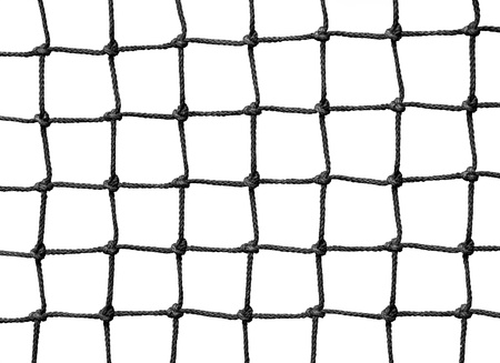 safety net: Net isolated on white  Stock Photo
