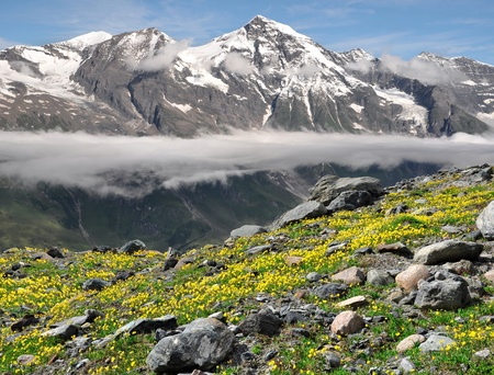 tauern: Wiesbachhorn in National Park Hohe Tauern, Austria  Stock Photo
