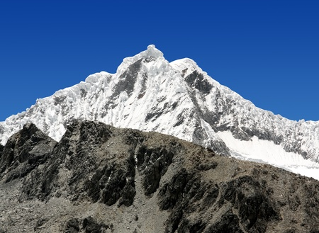 andes mountain: A summit in the Cordillera Blanca - Mountain Pisco , Peru