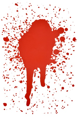 blood dripping: blood splatters  Stock Photo