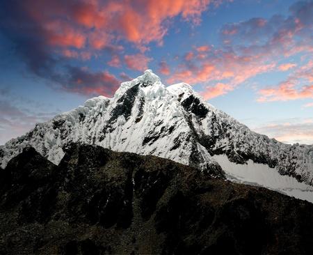 A summit in the Cordillera Blanca - Mountain Pisco , Peru  photo