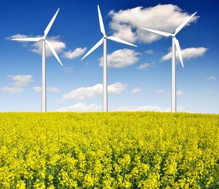 wind turbine against the blue sky Stock Photo - 10981415
