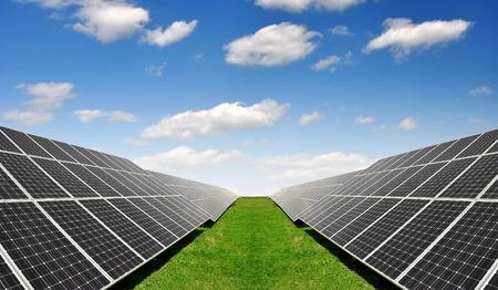 Alternativ: Solar energy panels  Stock Photo