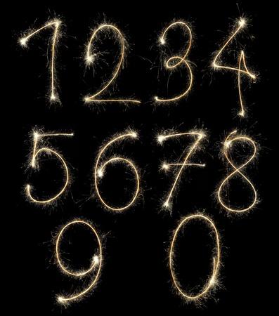 Christmas alphabet created a sparkler Stock Photo - 11287338