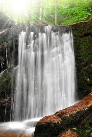 nant: beautiful waterfalls in the Bavarian Forest-Germany Stock Photo