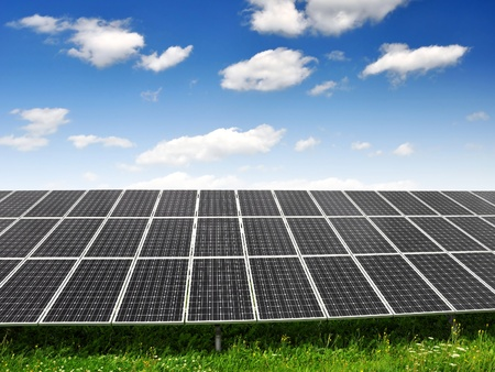 alternativ: Solar energy panels  Stock Photo