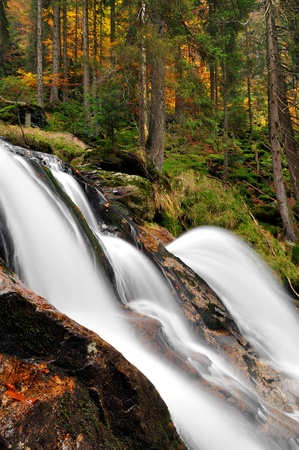 nant: beautiful waterfalls Rissloch in the Bavarian Forest-Germany  Stock Photo