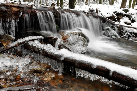 winter creek in the national park Sumava - Czech Republic Stock Photo - 11744402