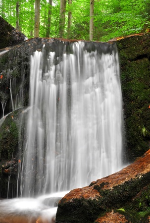 torrent: beautiful waterfalls in the Bavarian Forest-Germany