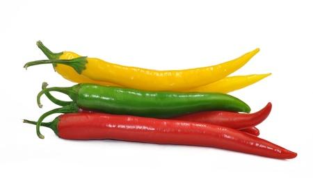 spicey: peperoncini piccanti isolato su sfondo bianco
