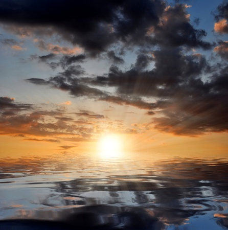 sunup: sunset over the sea