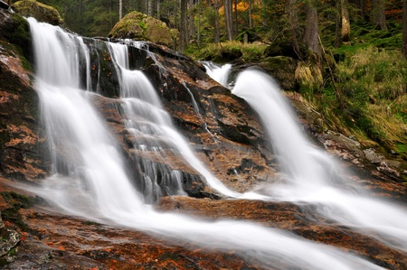spruit: beautiful waterfalls Rissloch in the Bavarian Forest-Germany  Stock Photo