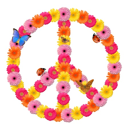 Peace flower symbol  photo