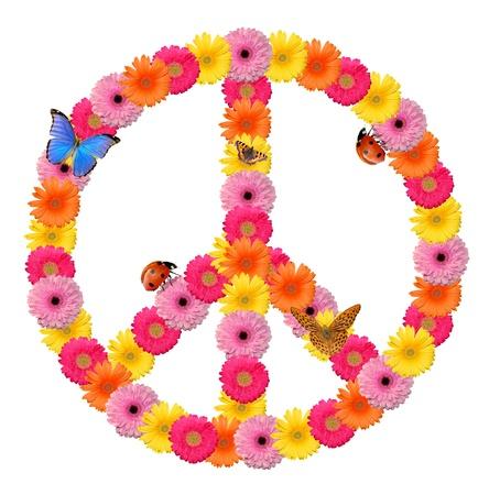 Peace flower symbol Stock Photo - 11989132