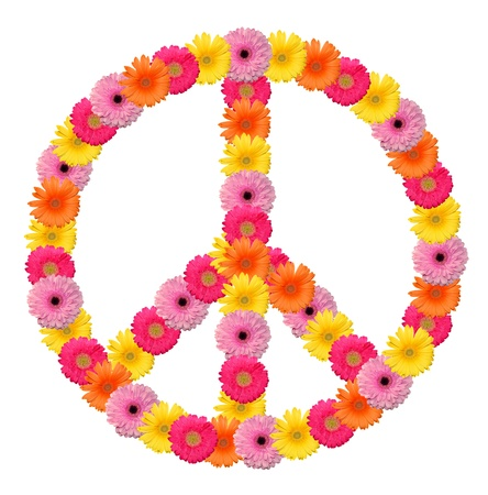 peace and love: Peace flower symbol Stock Photo