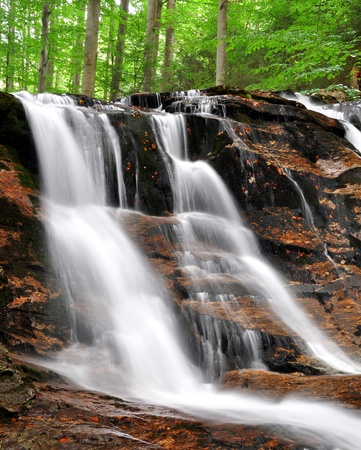 spruit: beautiful waterfalls in the Bavarian Forest-Germany Stock Photo