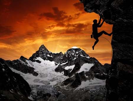 climbers in the Swiss Alps Stock Photo - 12026367