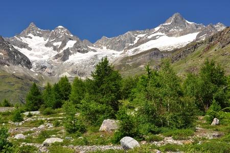 european alps: Beautiful mountain Ober Gabelhorn - Swiss alps