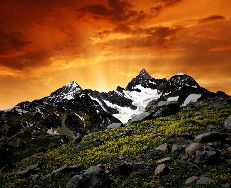 zermatt: sunrise on the Ober Gabelhorn - Swiss Alps