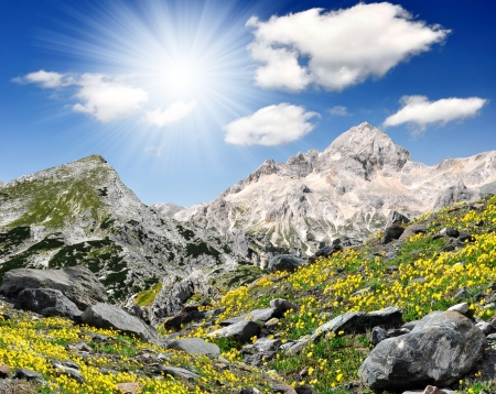 Julian アルプス - スロベニア、ヨーロッパのトリグラウ山の美しい景色