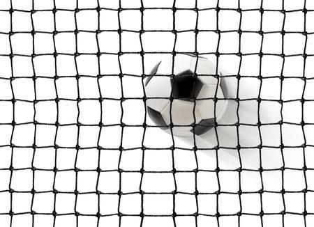 soccer net: soccer ball flying into the gates