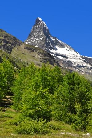 european alps: views of the Matterhorn - Swiss Alps  Stock Photo