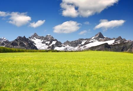 Beautiful mountain Ober Gabelhorn and Zinalrothorn - Swiss alps  photo