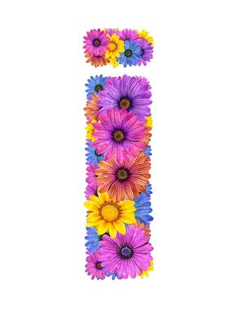 dewy: Alphabet of colorful dewy flowers