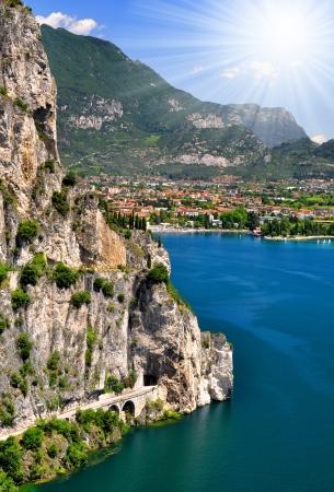 del: largest Italian lake, Lago di Garda,Italy