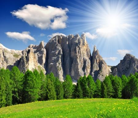 Dolomite peaks, Rosengarten,Val di Fassa, Italy Alps Stock Photo - 14470798