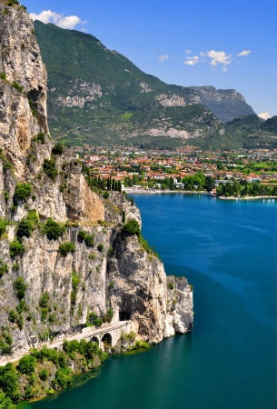 del: Lago di Garda, largest Italian lake,North Italy