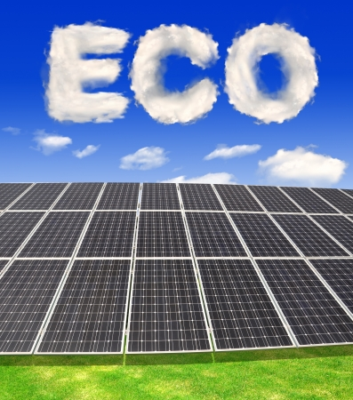 silicium: Solar energy panels with eco from clouds