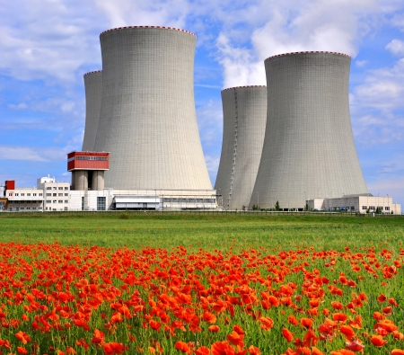 electric generating plant: Nuclear power plant Temelin in Czech Republic Europe