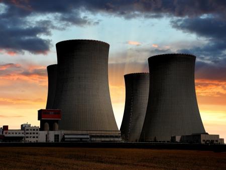 power tower: Nuclear power plant Temelin in Czech Republic Europe