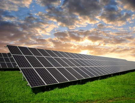 alternativ: Solar panels Stock Photo