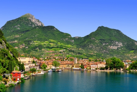 del: the city of Riva del Garda, situated in the northern part of the largest Italian lake, Lago di Garda