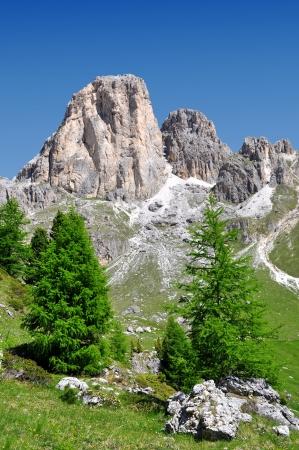 Dolomite peaks, Rosengarten,Val di Fassa, Italy Alps Stock Photo - 14966925