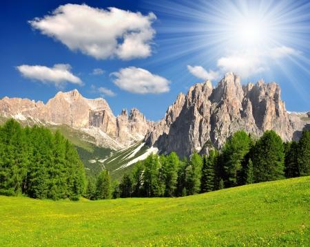 Dolomite peaks, Rosengarten,Val di Fassa, Italy Alps Stock Photo - 15419880
