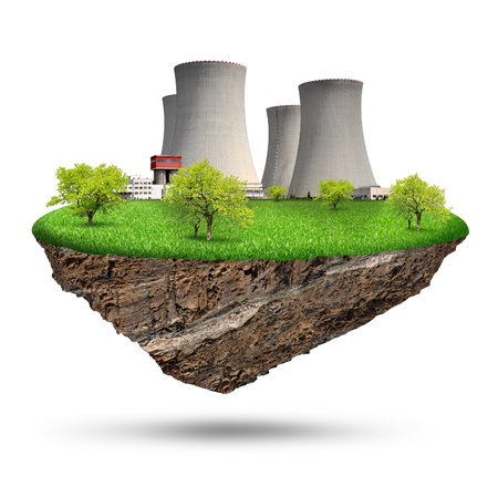 nuclear power plant: Little island with nuclear power plant