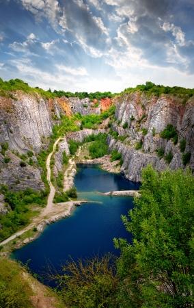 Stone quarry Big America near Prague, Czech Republic