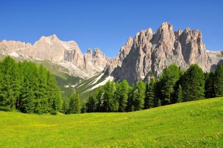 Dolomite peaks, Rosengarten,Val di Fassa, Italy Alps Stock Photo - 15647494
